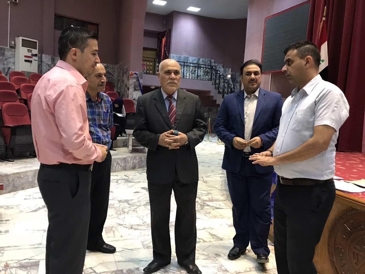 زيارة السيد رئيس جامعة المثنى لكلية الطب