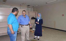زيارة الدكتورة أرواء عبد عميد كلية طب المثنى الى مستشفى النسائية و الاطفال