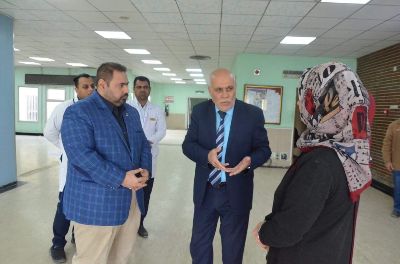 زيارة السيد رئيس الجامعة الفروع السريرية لكلية الطب